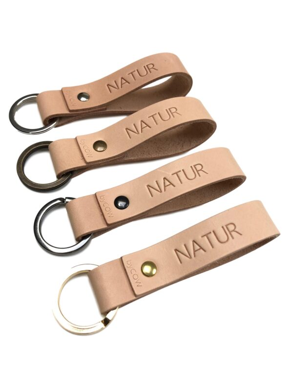 læder nøglering, Nordic Classic 1, nøglering i læder, læder nøglering med tryk, personlig nøglering, nøglering med navn, læder nøglering med navn